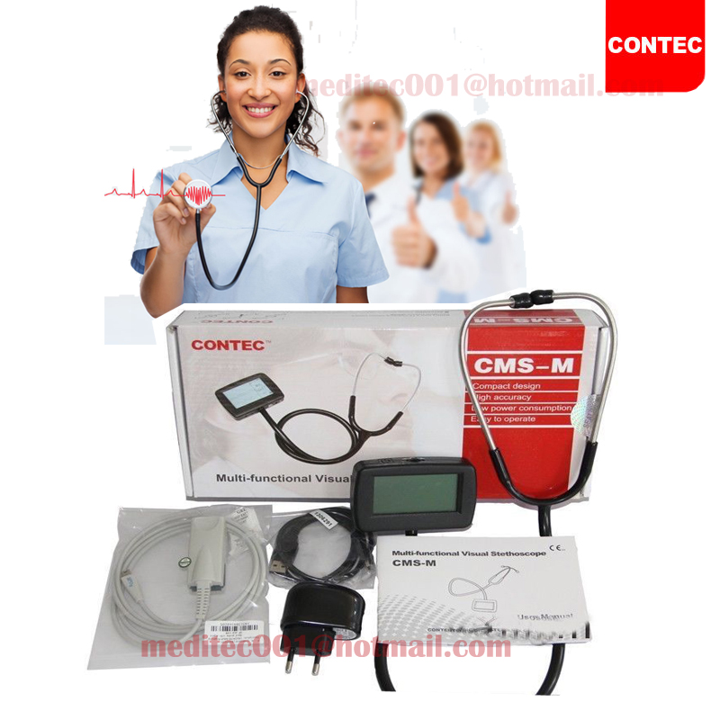 CMS-M Best Personalized Simple Black Doctor Stethoscope health care professional medical double headed stethoscope doctor use stethoscope