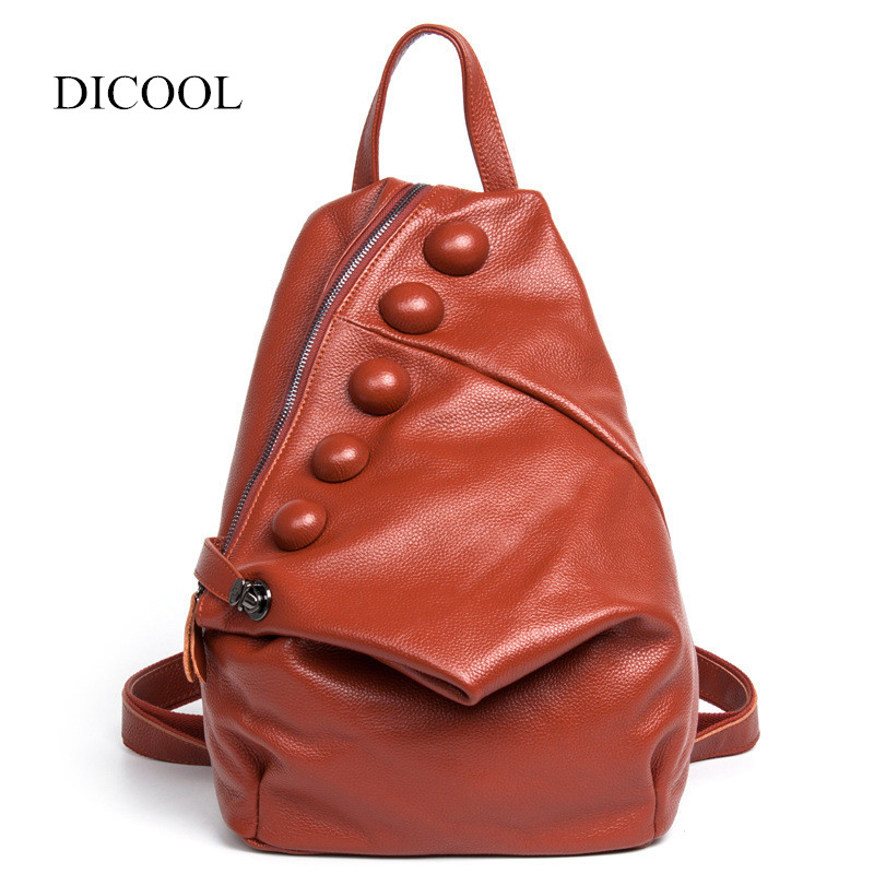 Women Genuine Leather backpack for College Student One Shoulder Bag Women Fashion Daily Backpack рюкзак fashion tender 2015 z 082 canvas bag fashion college backpack women vintage backpack