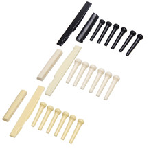 Portable 6-String Guitar Bridge Pins Saddle Nut Acoustic Cattle Tailpiece Plastic Guitar Accessories for Acoustic Guitar Quality(China)