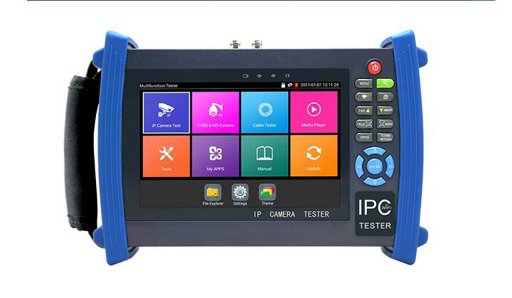 New H.265 4K 7 Inch IP CCTV Tester Monitor CVBS Camera tester ONVIF WIFI HDMI Input Output POE 12V output st4000pro with ce certification factory provide cctv camera tester monitor