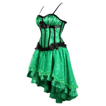 Women Burlesque Costumes Emerald Green Plus Size