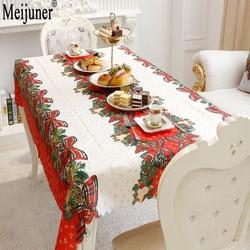 Meijuner Hot Sale 2018 Christmas Decorations Rectangular Tablecloth Prints Creative Christmas Restaurant Tablecloths