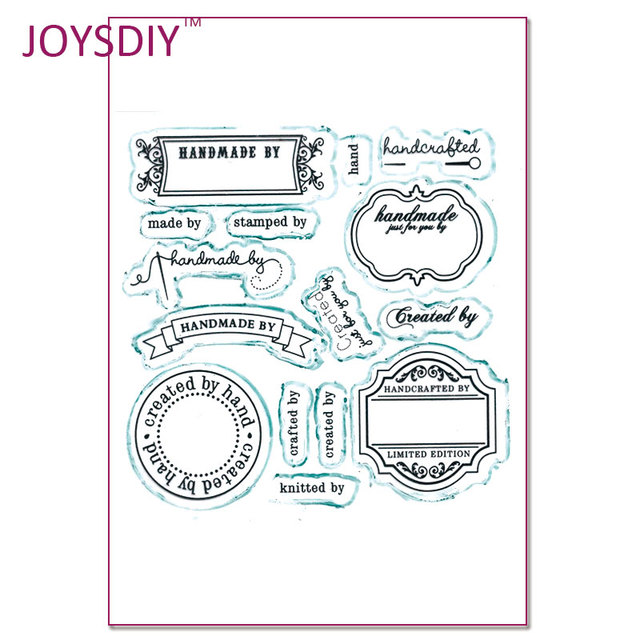 Handmade By Label Created by Label  clear stamps for Scrapbooking rubber stamps for card making Handmade card Stamps and dies 20