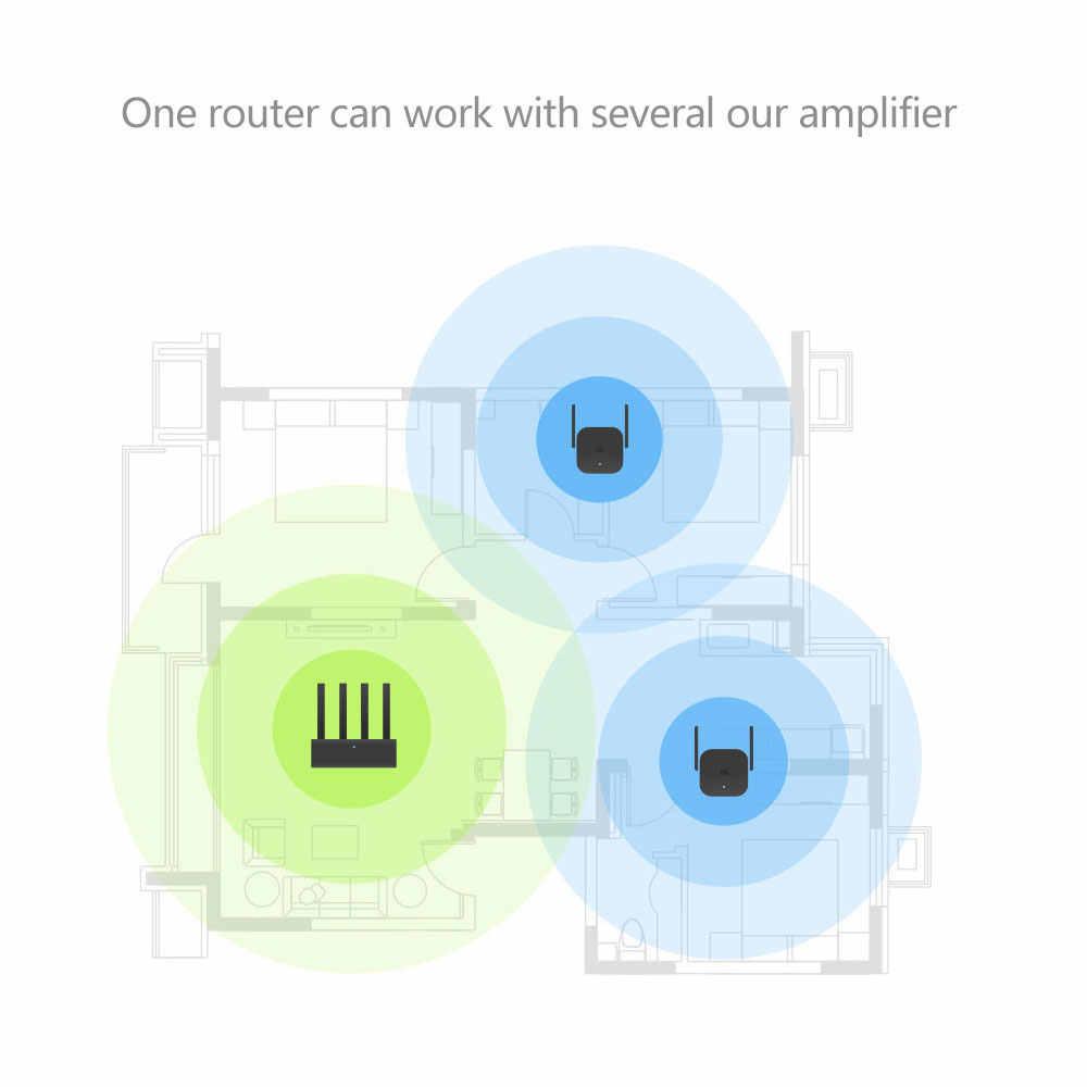 شاومي برو 300 متر واي فاي راوتر مكبر للصوت مكرر إشارة غطاء موسع Roteador 2 راوتر لاسلكي تكرار Mi مكرر رائجة البيع