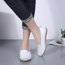 Women Walking Shoes White Flat Shoes PU Leather Fashion Non-slip Soft Bottom Female Casual Shoes 2019 hot sale Loafers Work shoe artmu 2017 retro hollow out women shoes handmade slip on woman loafer shoes non slip female shoe genuine leather soft bottom