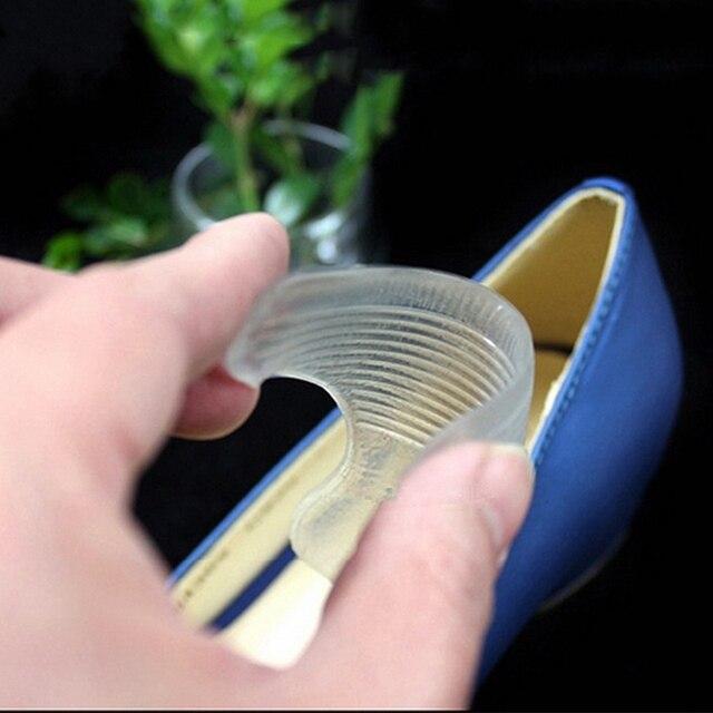 1 pairs sonra topuk görünmez silika jel çıkartmalar şeffaf ayakkabı Pad tabanlık kendinden yapışkanlı ayak bakımı