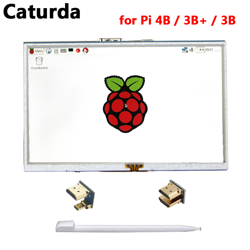 5 inch Raspberry Pi 4 Display TFT Raspberry Pi <font><b>3</b></font> LCD <font><b>800</b></font>*480 Touch Screen for Windows 10 8 <font><b>7</b></font> Raspberry Pi 4 <font><b>3</b></font> Model B 3B Plus image