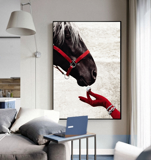graceful horse rider artwork living room wall home art decor canvas fabric posters BBB201-112