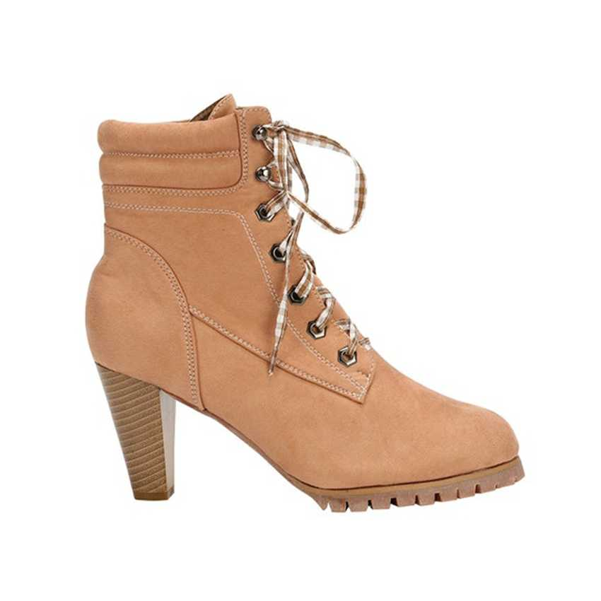 8 cm Spike Heels Frauen Stiefeletten Damen Fell Winter Schnee Stiefel Frau Plattform Stiefel Frauen High Heel Boot Botas mujer Herbst