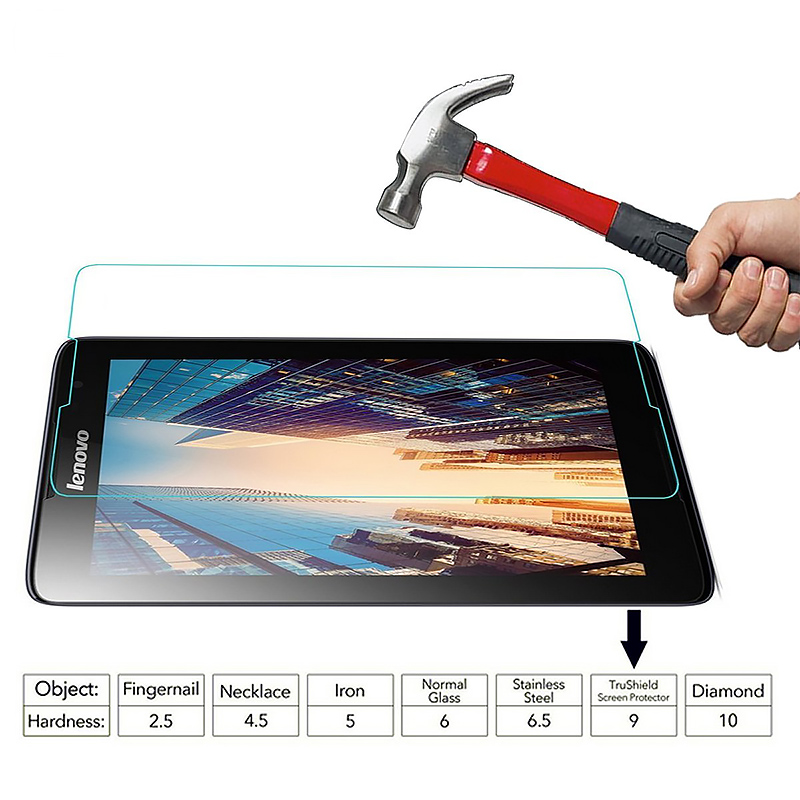 Gertong HD Tablet Protective Tempered Glass For Lenovo Tab 4 10 8 plus TB-X304L TB-X304F TB-X704L TB-X704F 3 710L 850F 850M 730M(China)