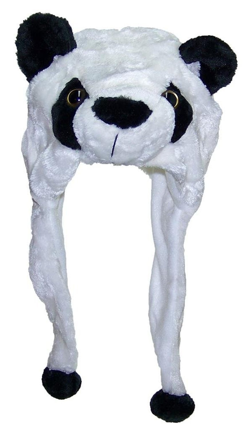 e2d6bed1e US $8.18 9% OFF|DOUBCHOW Cute Plush Fluffy Earflap White Panda Animal Hats  Adults Womens Teenagers Kids Boys Girls Winter Beanie Christmas Gift-in ...