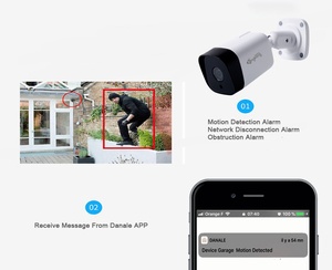 Image 5 - Kingkonghome POE IP カメラ 1080P 2.8 ミリメートルレンズ金属 ONVIF ネットワークセキュリティカメラ CCTV P2P モーション検知屋外 IP カム