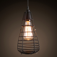 Industrial wind E27 iron single head pendant lamps loft retro Ironsmall cage clothing store coffee lighing pendant light ZA9820