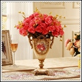 European style retro Decor floral arrangement Home Furnishing jewelry luxury furnishings Crafts vase trophy meal