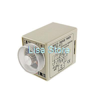 AH3-NA 8 Pin Two Modes 1S - 10M Power ON Delay Timer Time Relay 220V AC ac 220v power on delay timer relay and socket asy 3d 99s relays