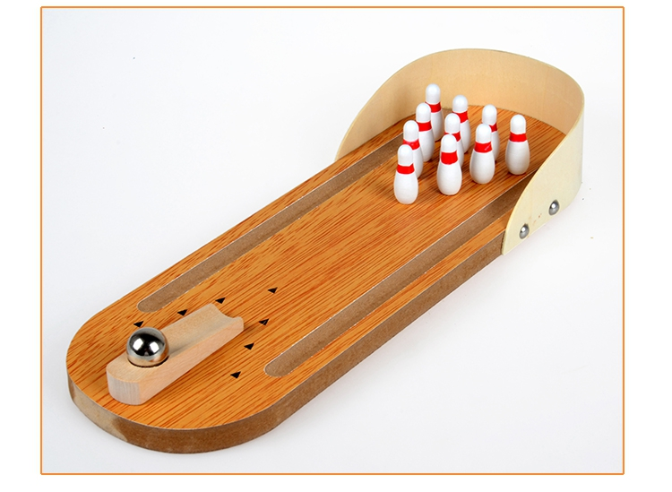 Image result for Indoor Mini children's table grounder board bowling game fun
