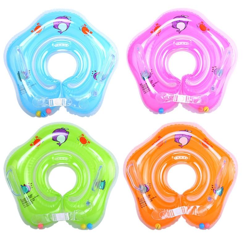 Детские Плавание ming бассейн и аксессуары для кольцо Плавание шеи кольцо безопасности младенческой шеи Float круг для купания надувные от 0 до 3...