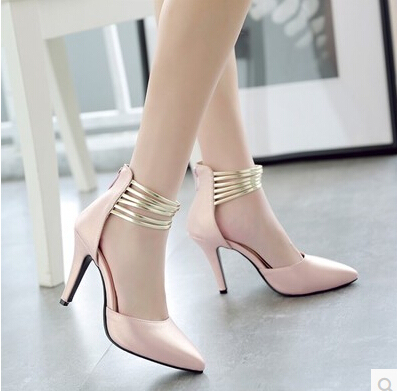 2017 new sexy tip work shoes summer Korean version of Baotou sandals female high heels fine with wild shoes tide