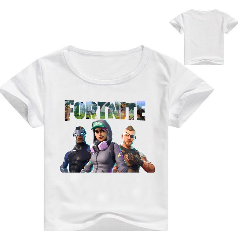 Z&Y 2-16Years Nununu 2018 Summer Fortnite Shirt Kids Tales Top Model Cartoon T Shirt for Teenagers Jumper for Kids Messi Jersey