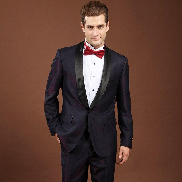 Magia Cor Roxo Ternos Para Homens Marca De Luxo Mens Ternos de Baile mais recentes Modelos Casaco Calça Terno Do Casamento Do Noivo Roupas Fase 4XL Q79