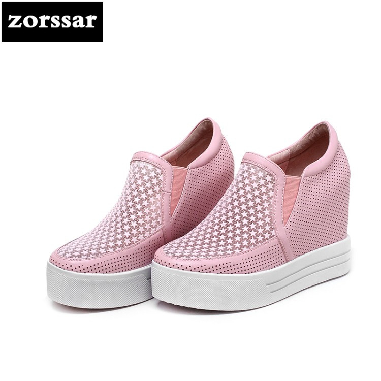 {Zorssar} summer Women sneakers Shoes breathable 2018 New Womens Wedges Height Increasing Casual shoes Ladies High heels pumps zorssar brand 2018 new womens creepers shoes heels casual wedges high heels pumps shoes fashion suede women platform shoes