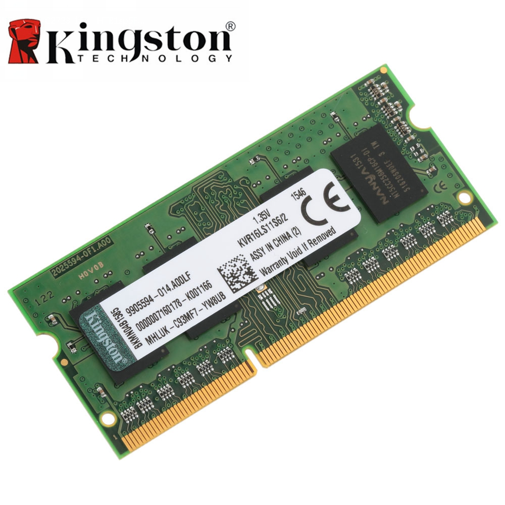 Kingston Original RAM 1600MHz CL11 204pin SODIMM DDR3 4GB 8GB Inter Memoria 1.35V Ram For Laptop Notebook Motherboard Memory new sealed laptop ram 2gb 4gb 8gb memory ddr3 so dimm 1333mhz pc3 10600 204 pin work with all amd intel motherboard of notebook