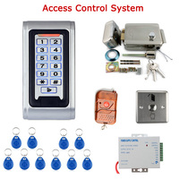 Door Access Control Controller Security System Kit Rfid Card Password Keypad Remote Control Electric Door Lock