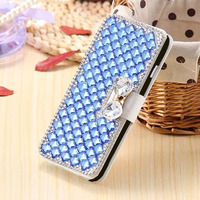 For ZTE Max XL N9560 Bowknot Case Luxury Bow Crystal Bling Leather Cover Case for ZTE Blade A520 A602 V770 V8 Lite Z965 Z17 Mini