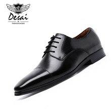 Desai Genuine Leather Shoe Men's Business Dress British Style Shoes Men Wedding Party Breathable Shoes туфли мужские