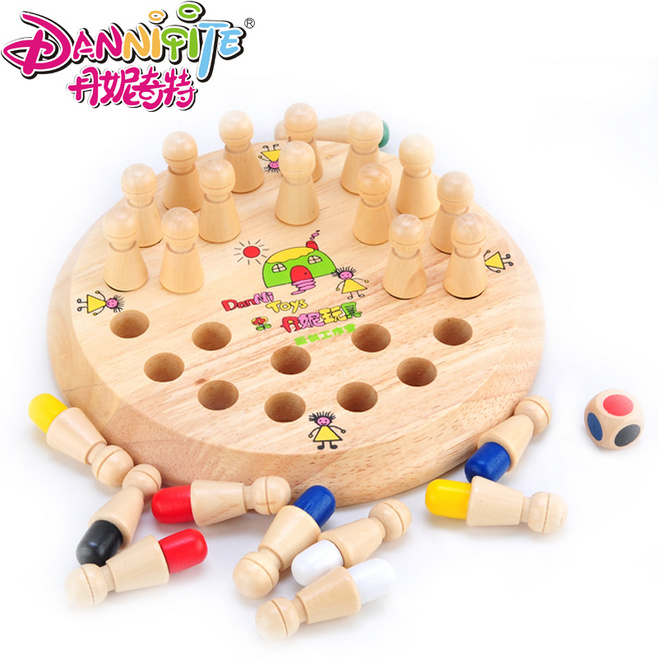Golden Key Montessori Materials Baby Wooden Toys Memory Chess Rubber Wood For Children Kids five in one uniting chess wood multifunction checkers backgammon exercise children thinking family board game kids birthday gift