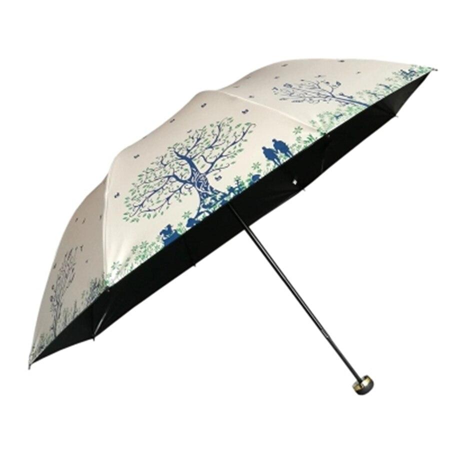 Caoutchouc créatif Portable ensoleillé pliant parapluie ombre coupe-vent parapluie poche Parasol Jardin Parasol pluie parapluies 50D0336