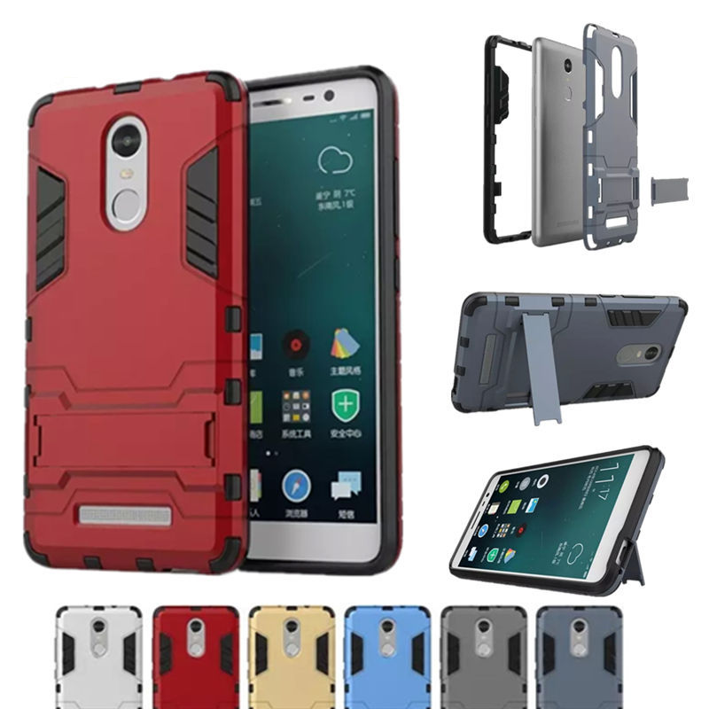 New Arrival Cool Iron Man Armor Dual Phone Cases for Xiaomi Redmi Note 3 Back Cover S Kickstand For Redmi Note 3 Pro Prime (<