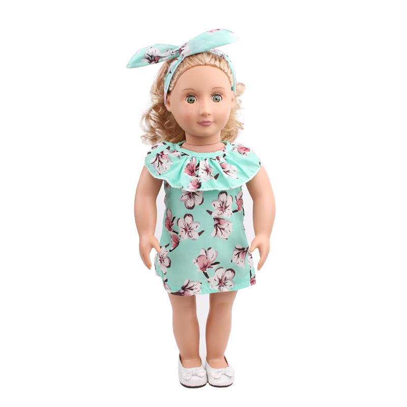18 inch American girl doll dress doll dress doll dress and doll dress + accessories handmade children birthday gift c527-c529 christmas costume dress for 18 45cm american girl doll santa dress with hat for alexander doll dress