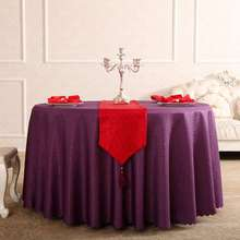 Purole rose Rectangle Small Polyester Jacquard Hotel Tablecloths Wedding Table Round Cloth Mark Place
