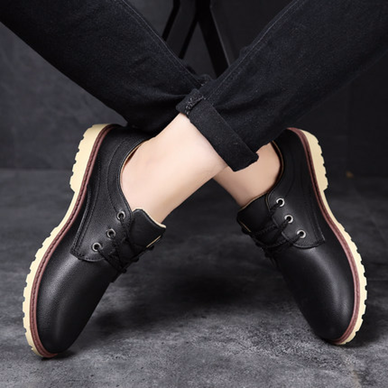 Mode L'usure 2018 Brown Automne À Résistant Tendance Fond D'affaires Chaussures Et Hommes Plat bleu New Respirant Lism noir De Printemps Casual qTn8qUt