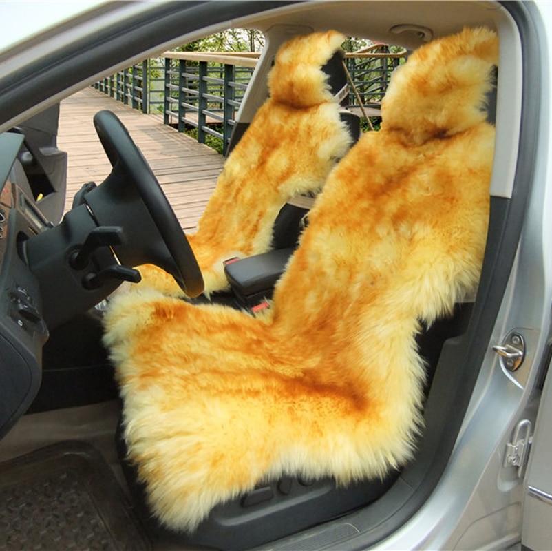 OKAYDA RU 100% təbii xəz Avstraliya palto avtomobil oturacağı - Avtomobil daxili aksesuarları - Fotoqrafiya 2