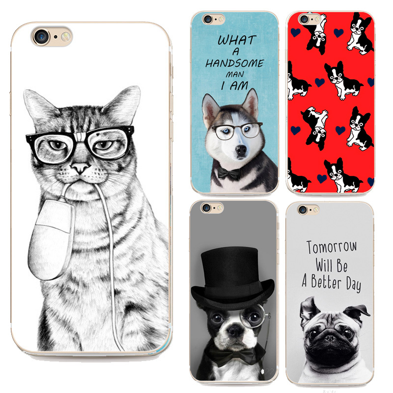 TPU case For Apple Iphone 5 5S SE case Top No Anti-knock Programmer For lovely Cat Dog Pattern cases For iphone SE back cover