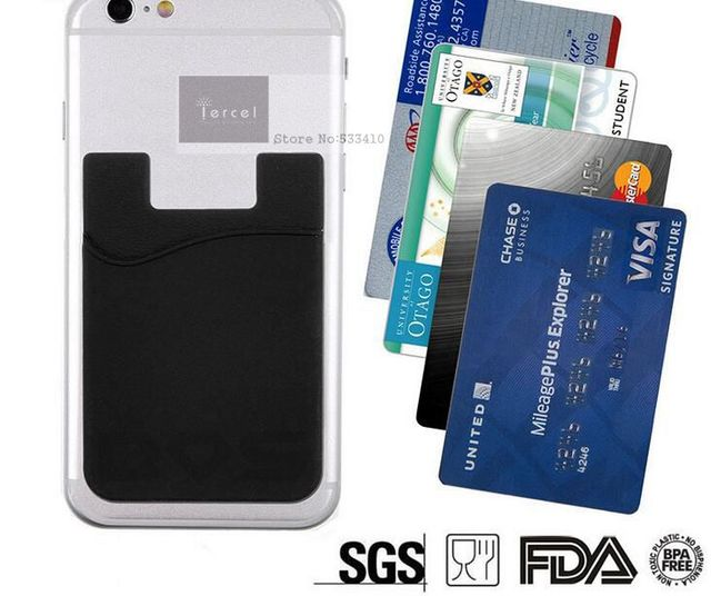 450 custom made silicone mobile phone 3m sticker smart wallet for mobile phones free shipping by
