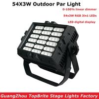 Newest Outdoor 54X3W RGB Full Color LED Par Light IP65 DMX Waterproof Par Cans Professional Stage