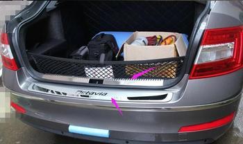 2 pcs Stainless Steel Chroming Car Rear Bumper Inner+External Footplate For Skoda Octavia a7 2013 2014 2015 2016