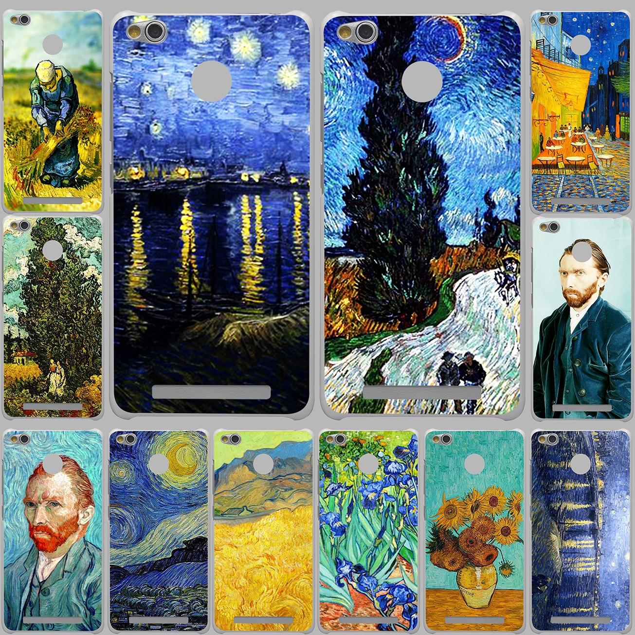 Vincent Willem van Gogh Tardis Harten Weißen Kasten für Xiaomi Redmi 3...