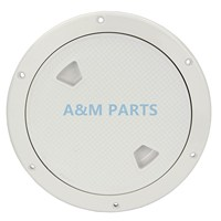 8 Marine Boat Inspection Hatch RV Round White Deck Plate Access Cover