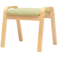 Household Change Shoe Bench Leisure Sofa Stool Wooden Cloth Seat Multifunction Low Stool Solid Wood Washable Non slip Stool
