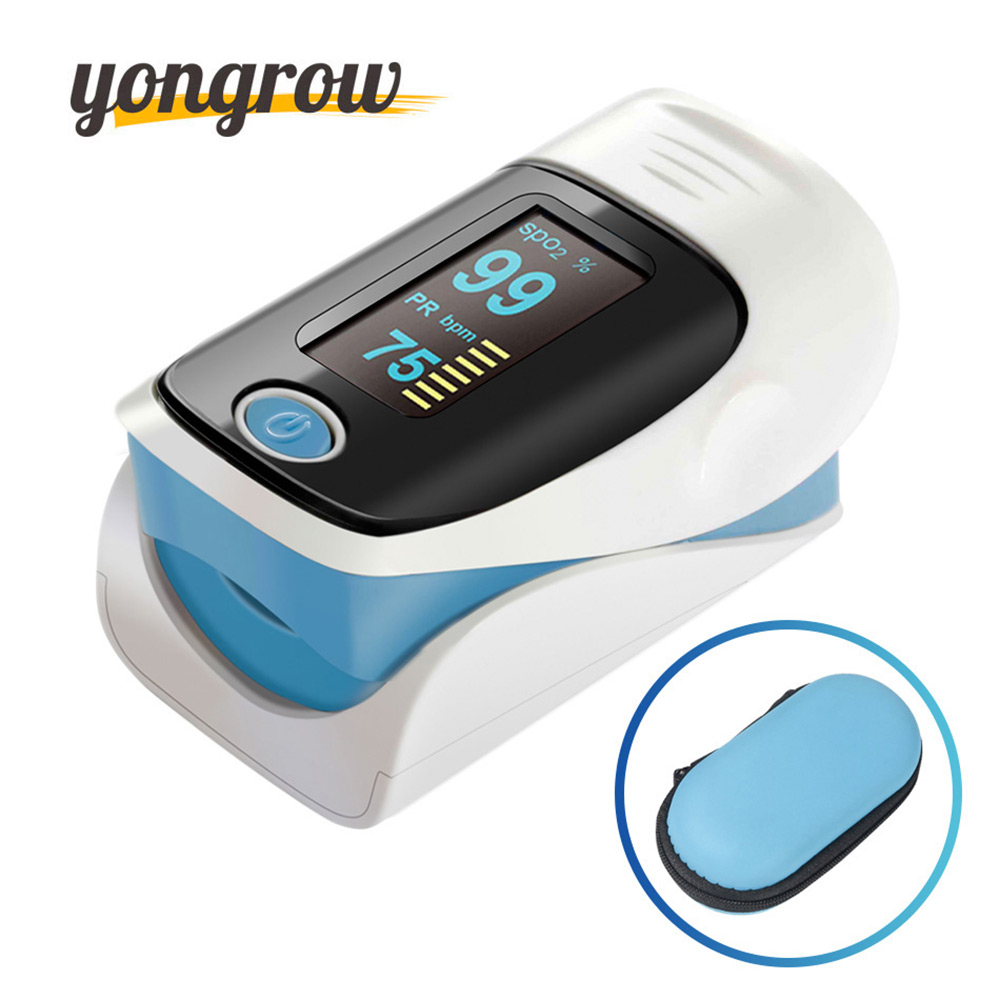 Yongrow Medical Household Digital Fingertip pulse Oximeter Blood Oxygen Saturation Meter Finger SPO2 PR Monitor CE Portable m100a finger pulse oximeter spo2 pr pi blood oxygen saturation monitor