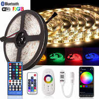Bluetooth SMD RGB RGBW LED Strip 5050 Diode Tape 12V 2.4G RF WiFi Controller 5M Neon Ledstrip Ambilight TV Waterproof Led Light