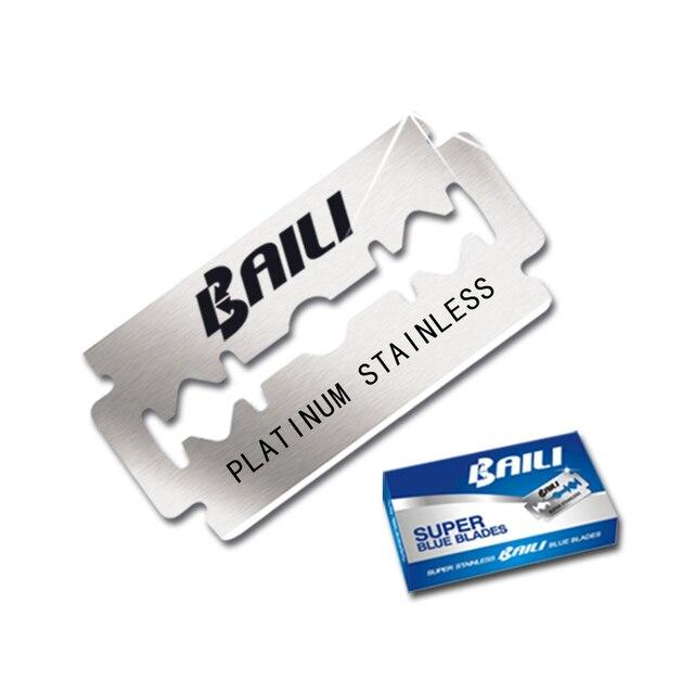 BAILI 200 Pcs/Lot Super Blue Safety Razor Blades Double Edge Shaver Beard Hair Shaving Blades for Men Face Personal Care BP005 1