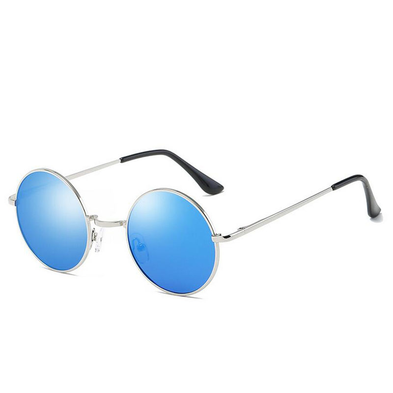 HTB1RErhdgfH8KJjy1zcq6ATzpXaw - FREE SHIPPING Polarized sunglasses vintage sunglass round sunglasses Black Lens JKP412