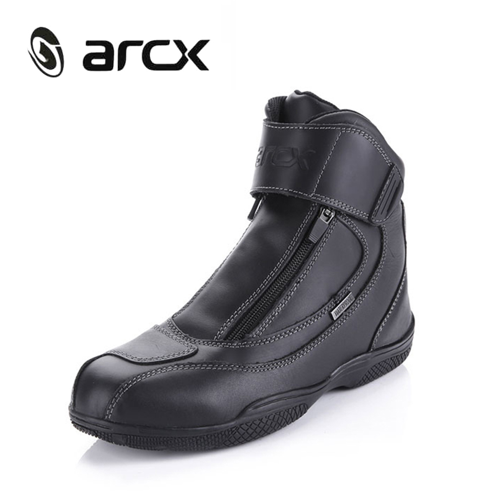 ARCX Motorcycle Boots Genuine Cow Leather Waterproof Street Moto Racing Boots Motorbike Chopper Cruiser Touring Riding Shoes arcx motorcycle road racing shoes genuine cow leather motorbike street moto chopper cruiser touring biker riding ankle boots