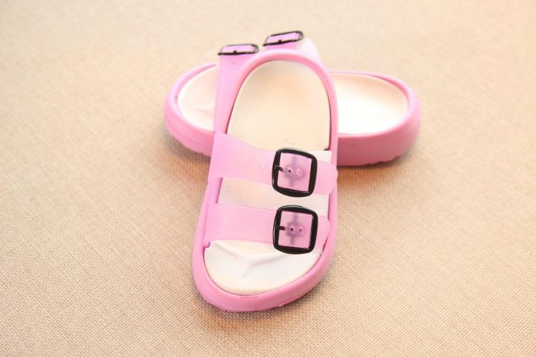 Slippers Kids for Girls Beach Sandals Summer Baby Slippers Boys Flat House Flip Flop Children Non-slip Korea Home Casual Shoes 20