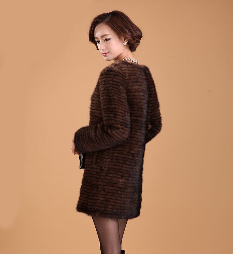 Popularne pletene jakne od krznenog kaputa od minica autentični stil - Ženska odjeća - Foto 2